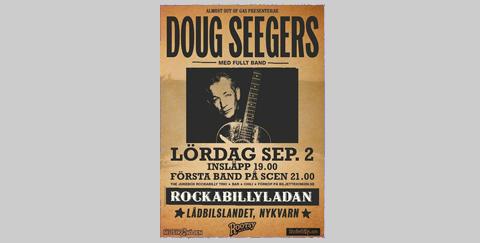 Doug Seegers konsert i Nykvarn, Sörmland den 2 september 2017