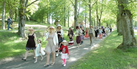 Hattparad på Taxinge slott 31 maj