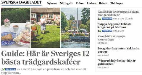 En paus på resan – SvD listar Taxinge slottscafé som ett av Sveriges bästa trädgårdskaféer
