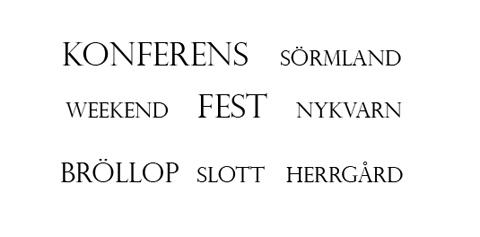 Konferens, weekend, bröllop i Sörmland, Nykvarn