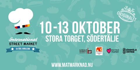International Street Market Södertälje 10-13 Oktober 2018 Sörmland